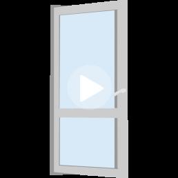puerta de doble contacto