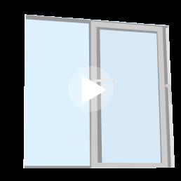 ventana tipo corredera 2 hojas móviles