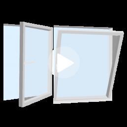 ventana de doble contacto oscilobatiente