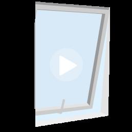ventana de doble contacto proyectante